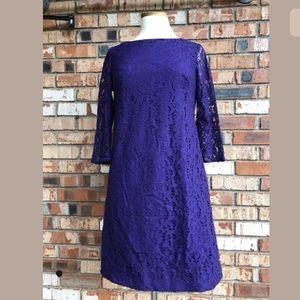 Nine West Purple Dress Size 2